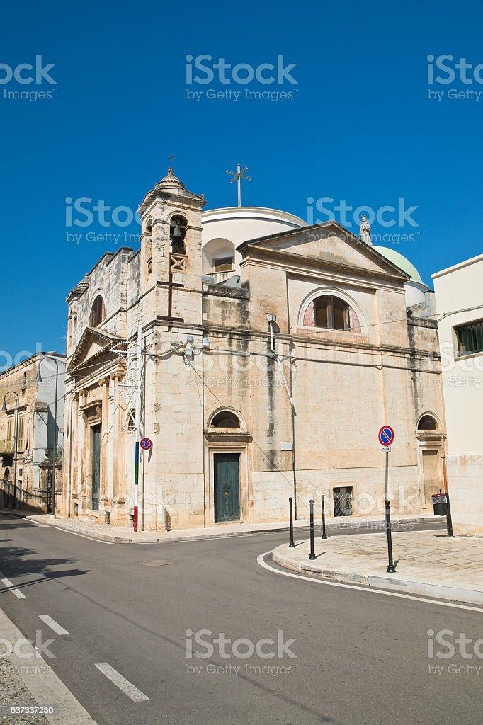 Church of Carmine. Rutigliano. Puglia. Italy. stock photo