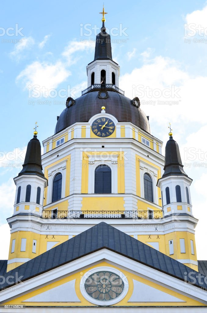 Church of Catherine (Katarina Kyrkja) at Sodermalm island - Stockholm Sweden stock photo