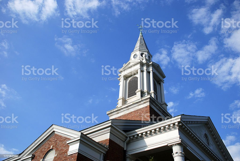 Church of Christ Steeple royalty-free stock photo