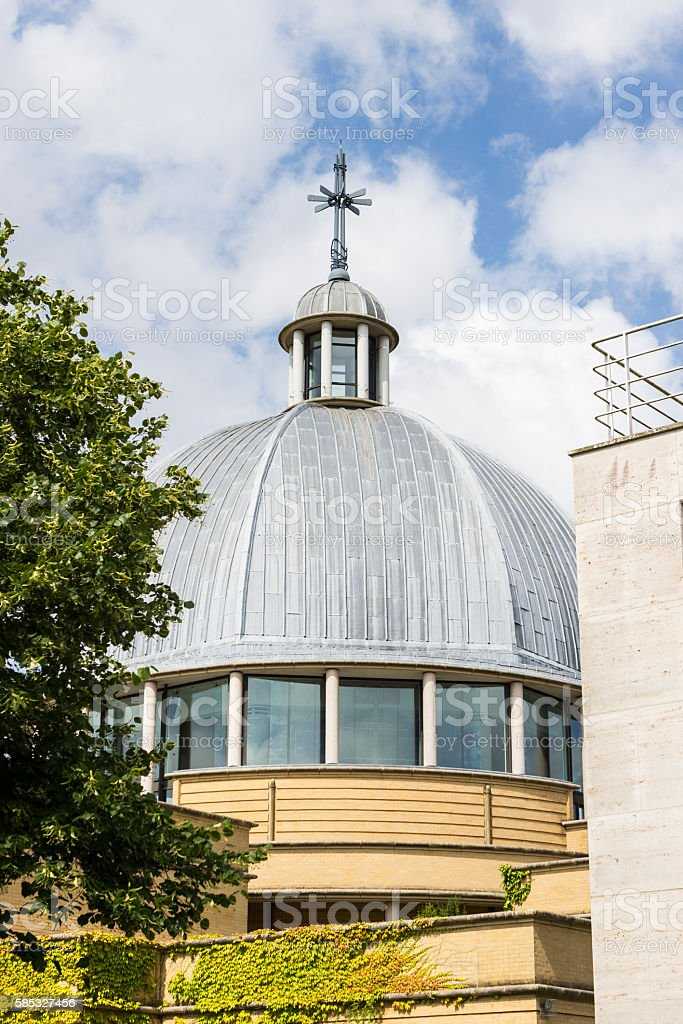 Church of Christ the Cornerstone in sunny day stock photo