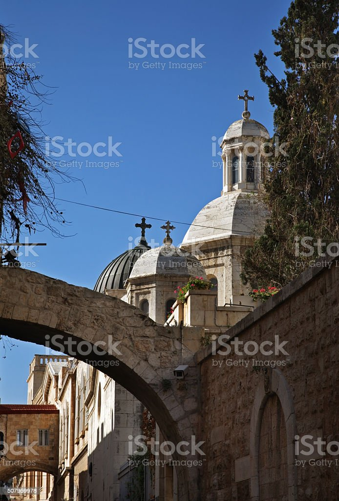 Church of Condemnation and Imposition of Cross in Jerusalem. Israel stock photo