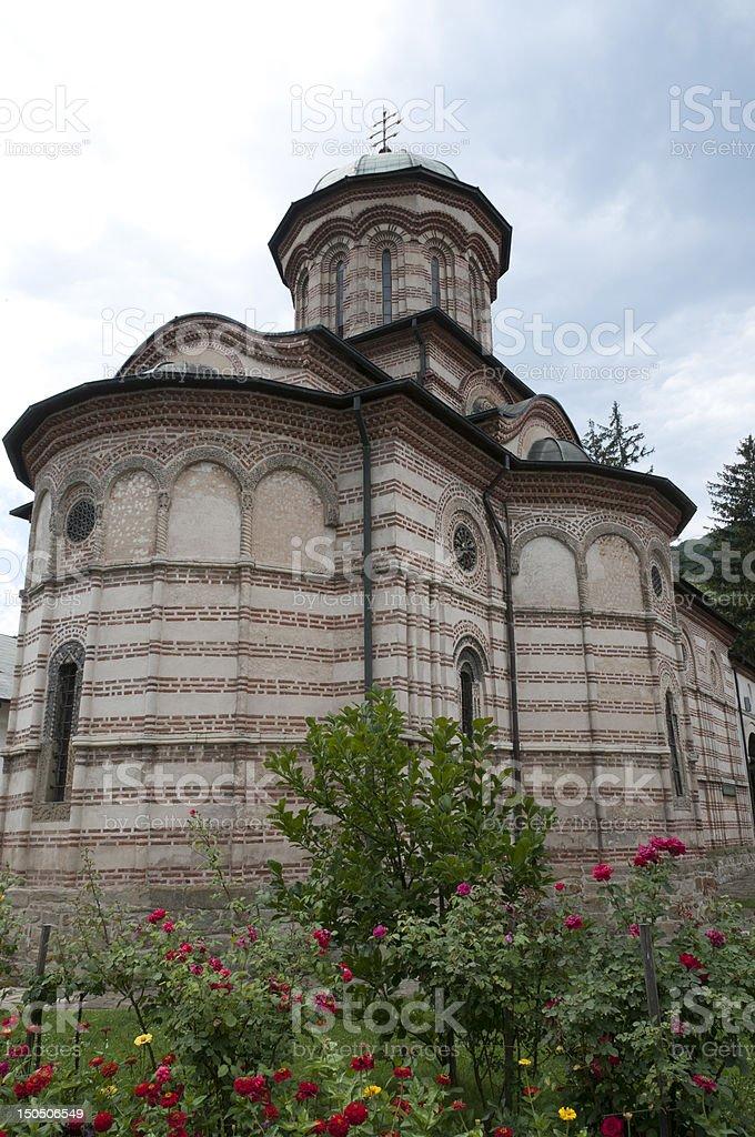 Church of Cozia Monastery stock photo