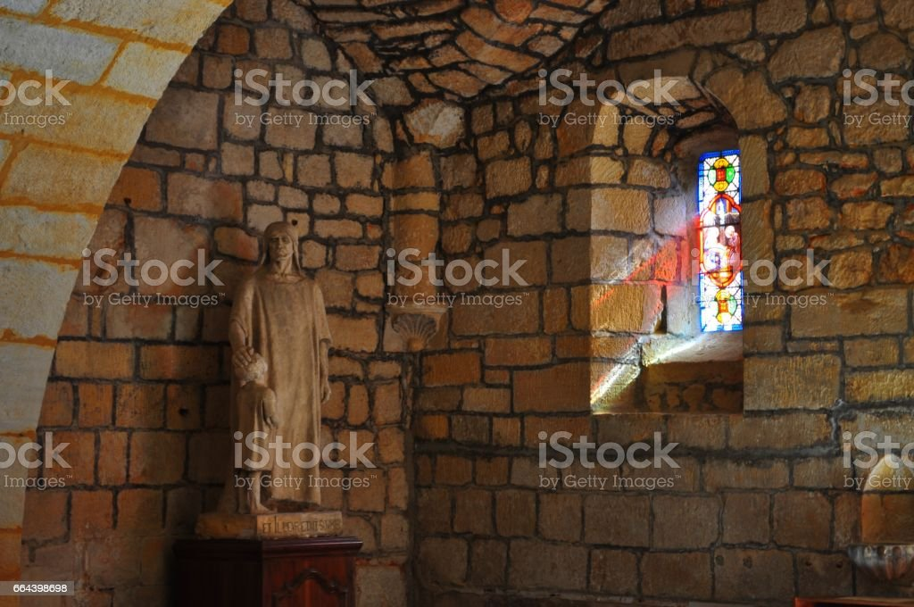Church of Domme, France stock photo