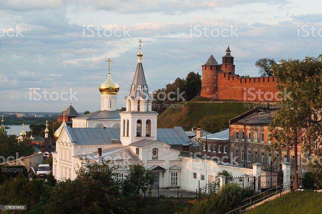 Church of Elijah the Prophet Nizhny Novgorod stock photo