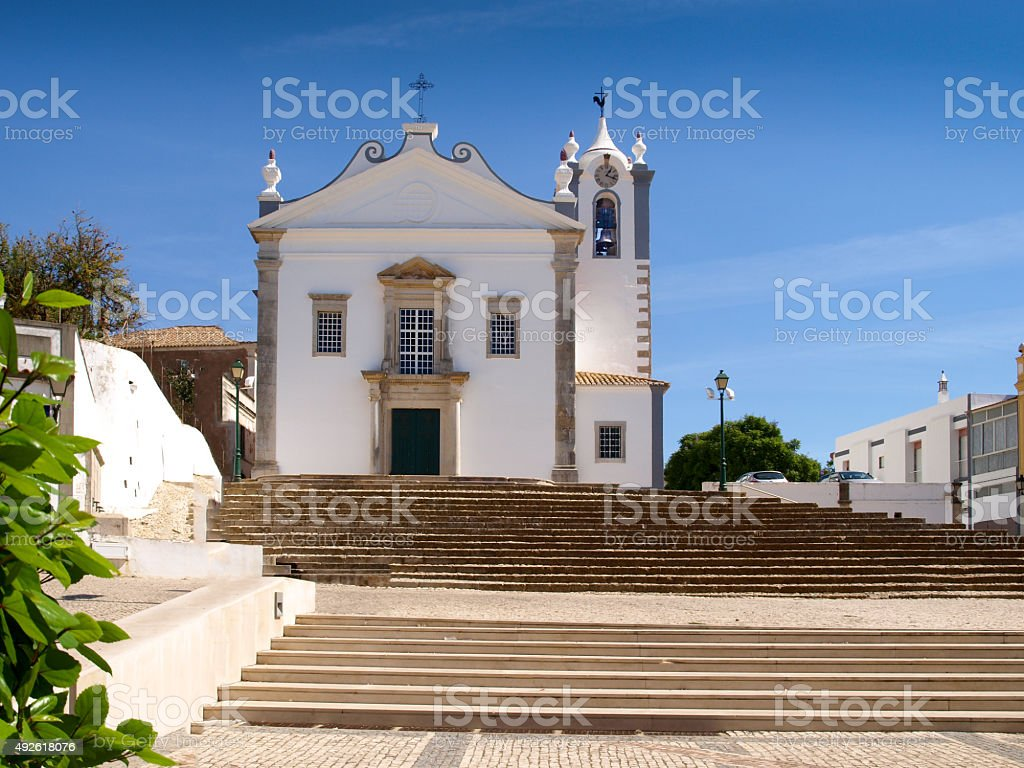 Church of Estoi stock photo