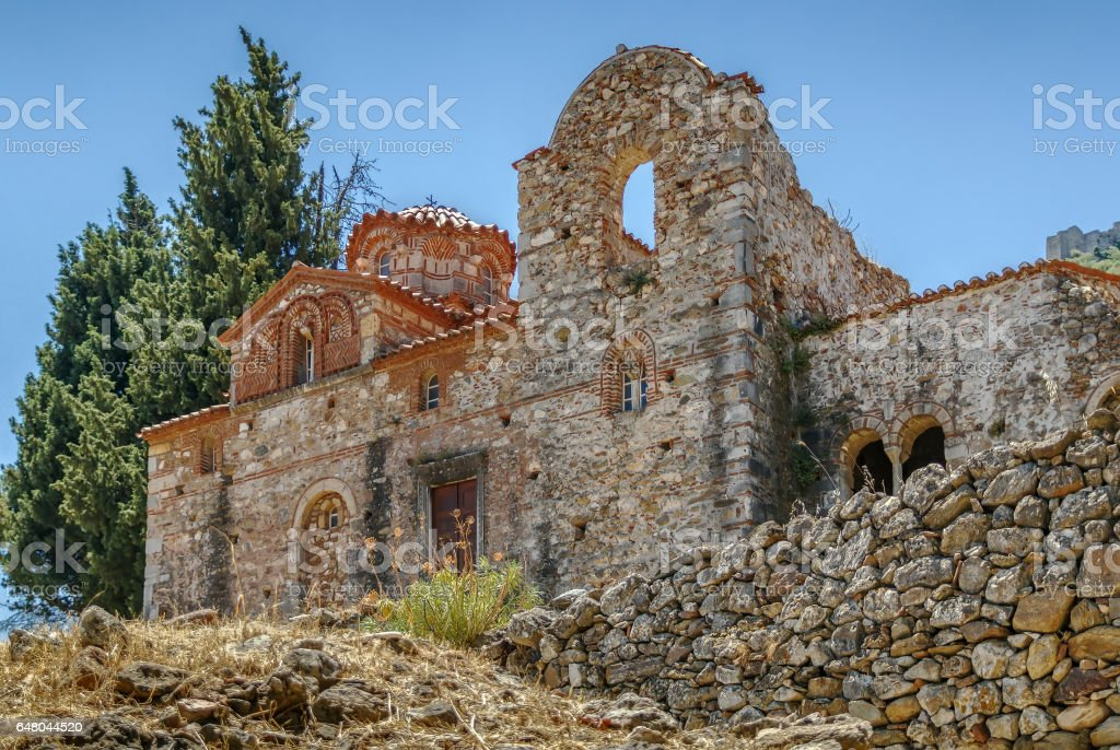 Church of Evangelistria, Greece stock photo