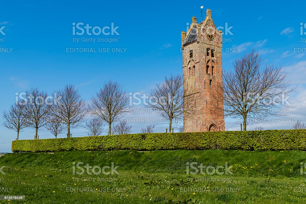 Church of Firdgum, Friesland stock photo