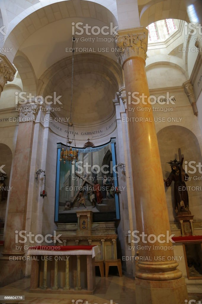 Church of flagellation stock photo