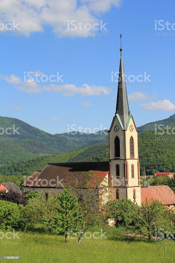 Church of Gunsbach stock photo