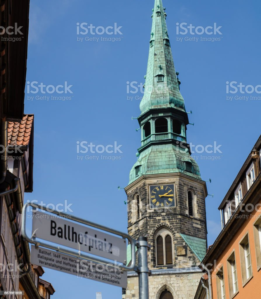 Church of Holy Cross in Hanover in Germany stock photo