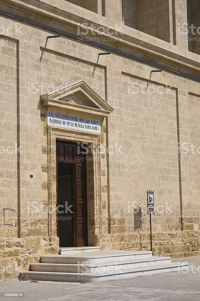 Church of Immacolata. Mesagne. Puglia. Italy. stock photo