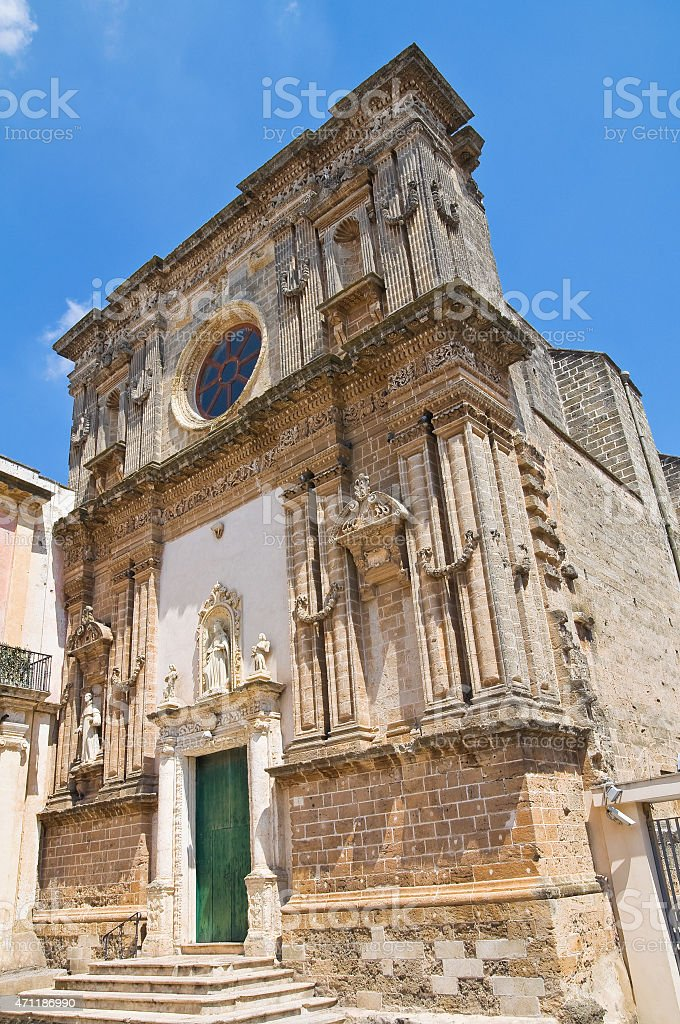 Church of Immacolata. Nard?. Puglia. Italy. stock photo