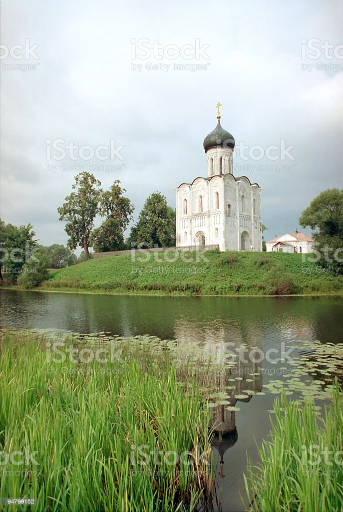 Church of Intercession upon Nerl River royalty-free stock photo