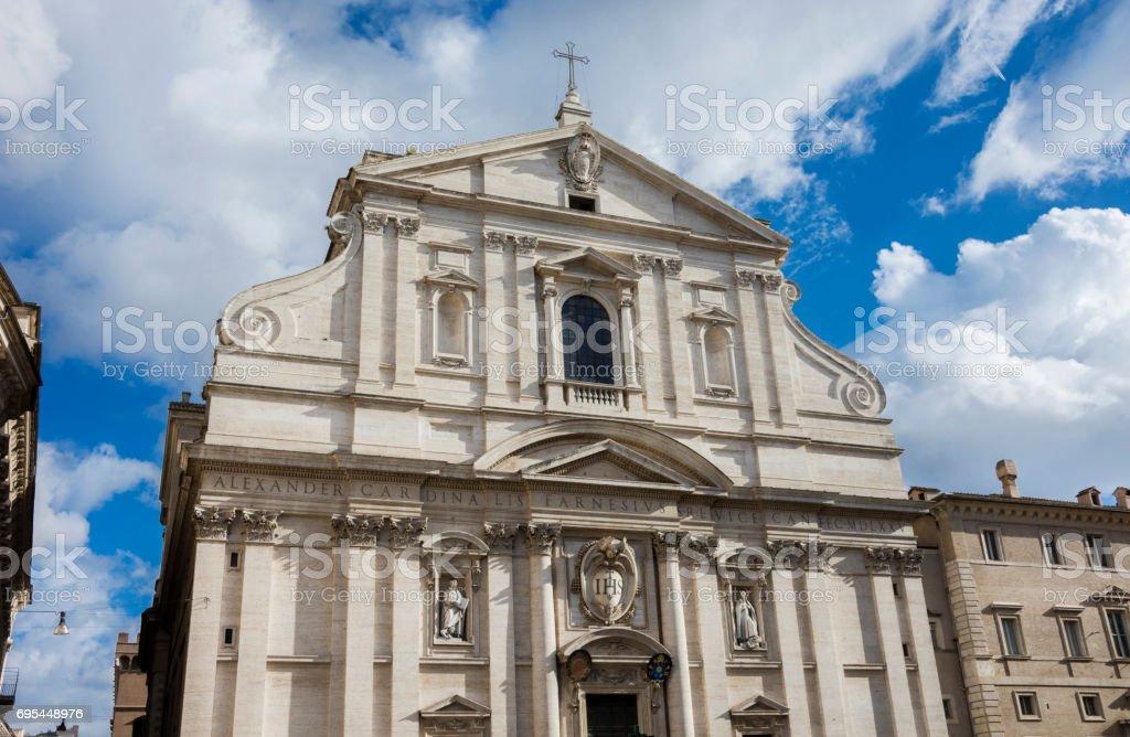 Church of Jesus in Rome stock photo