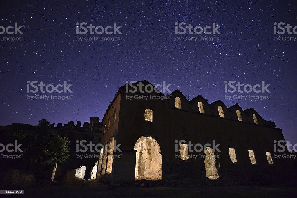 Church of Kayakoy stock photo
