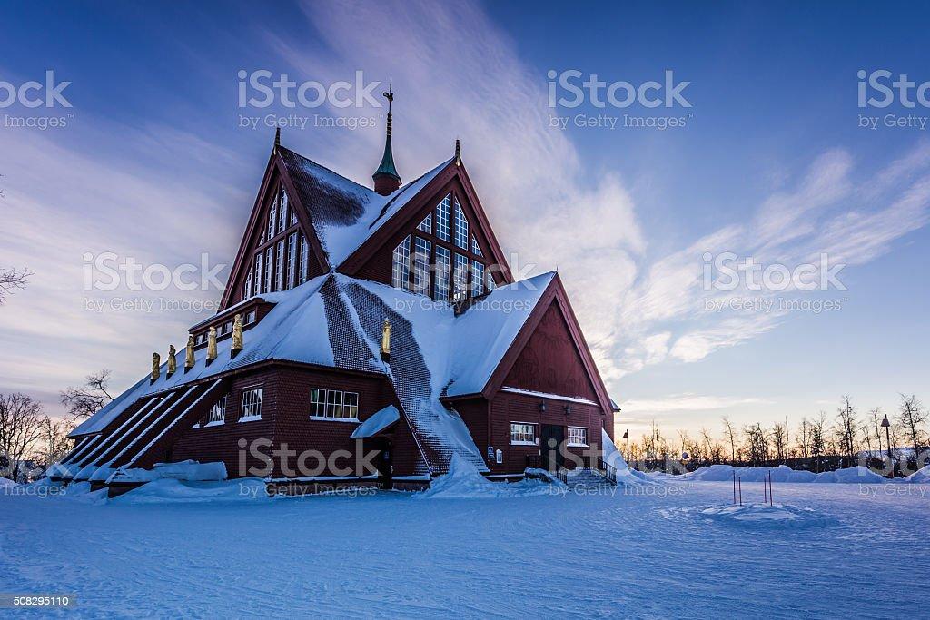 Church Of Kiruna stock photo