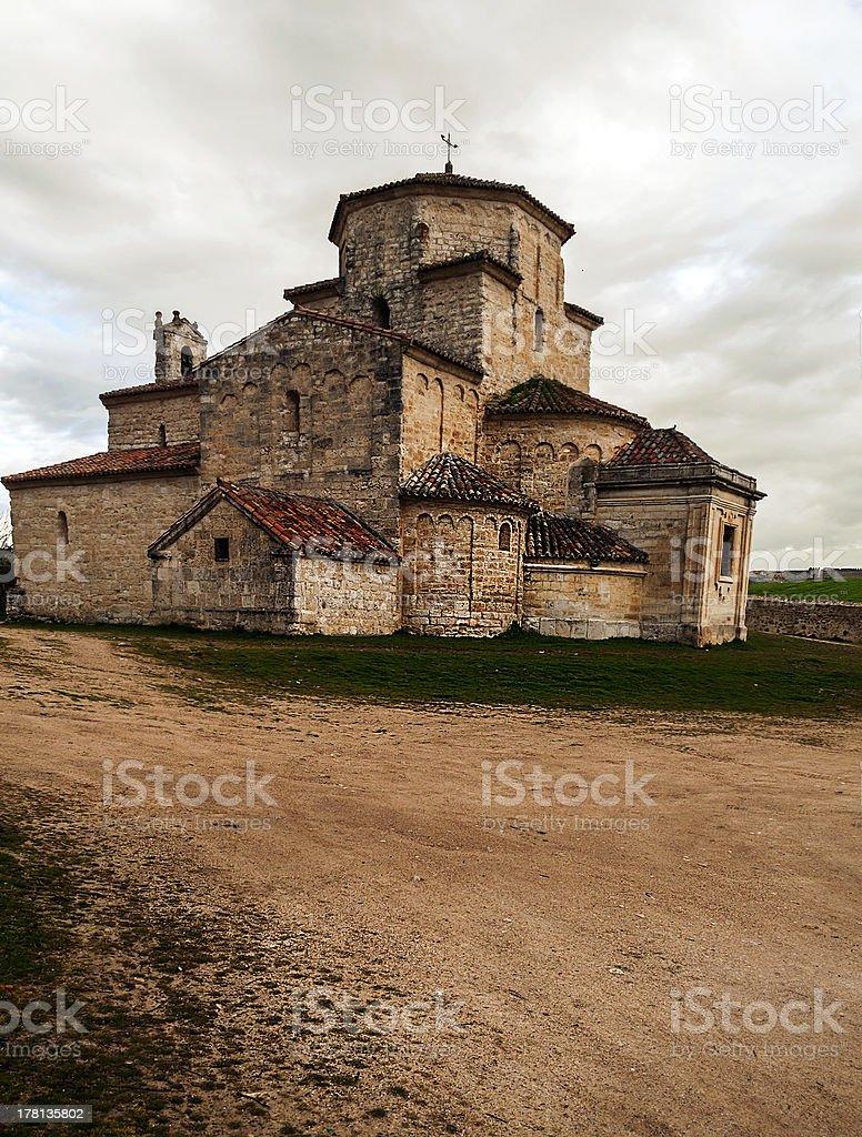 Church of la Anunciada in vertical royalty-free stock photo