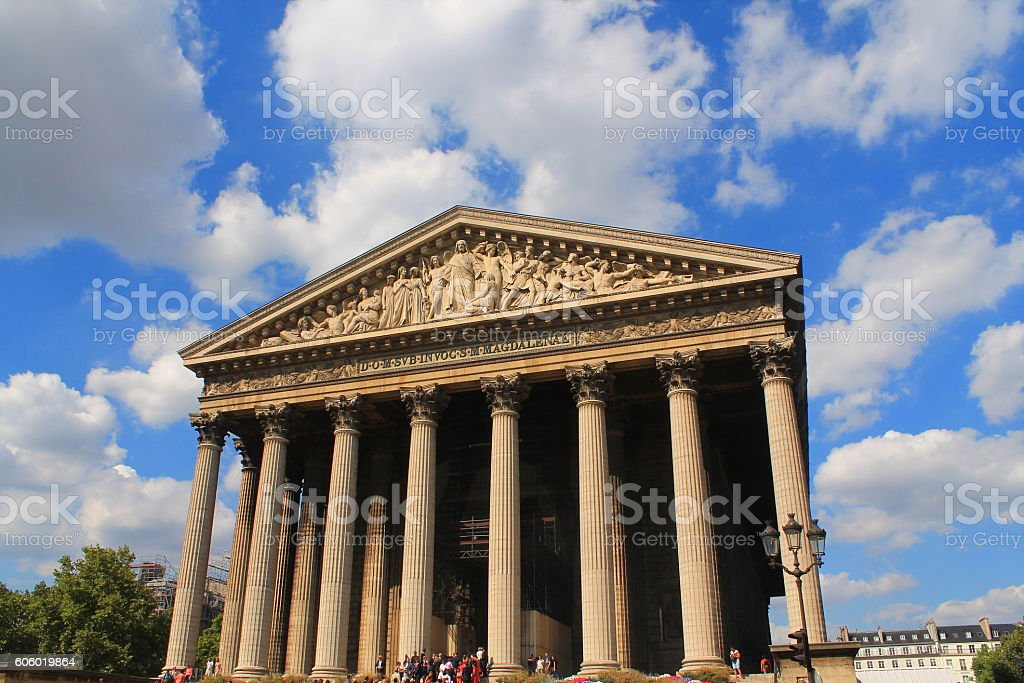 Eglise de La Madeleine à Paris, France stock photo