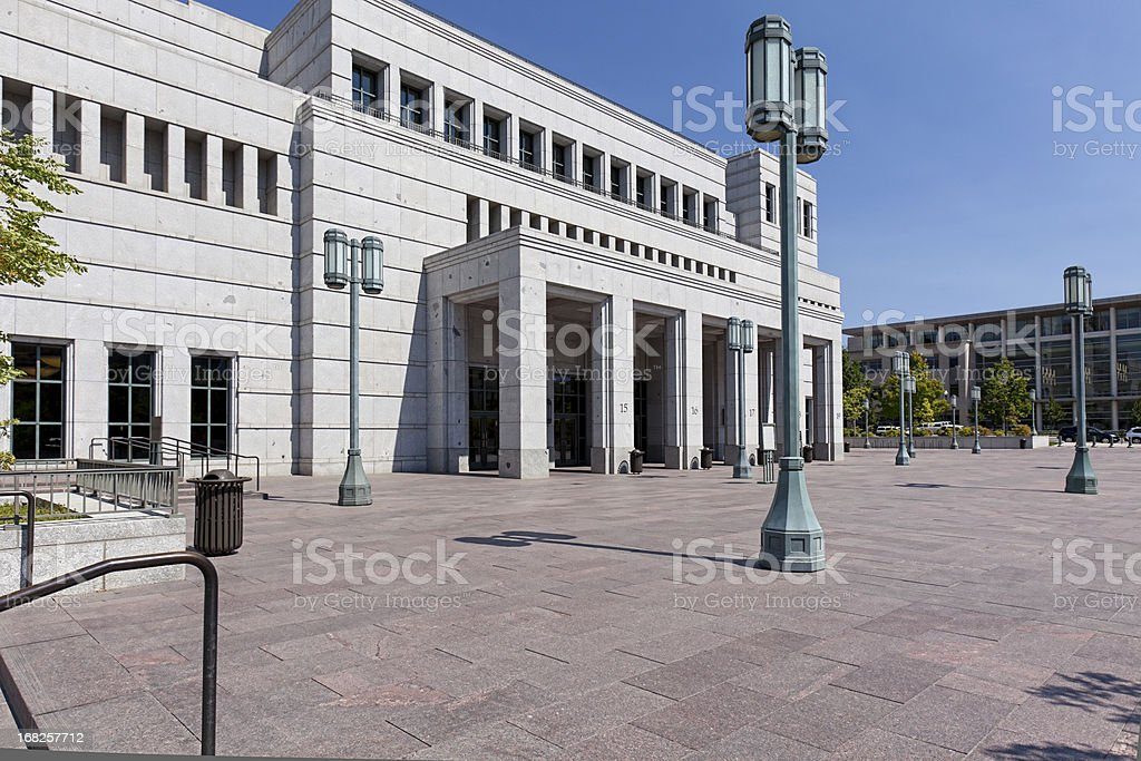Church of LDS Conference Center stock photo
