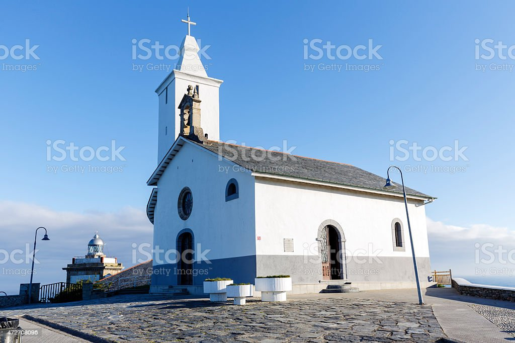 Church of Luarca, Asturias stock photo