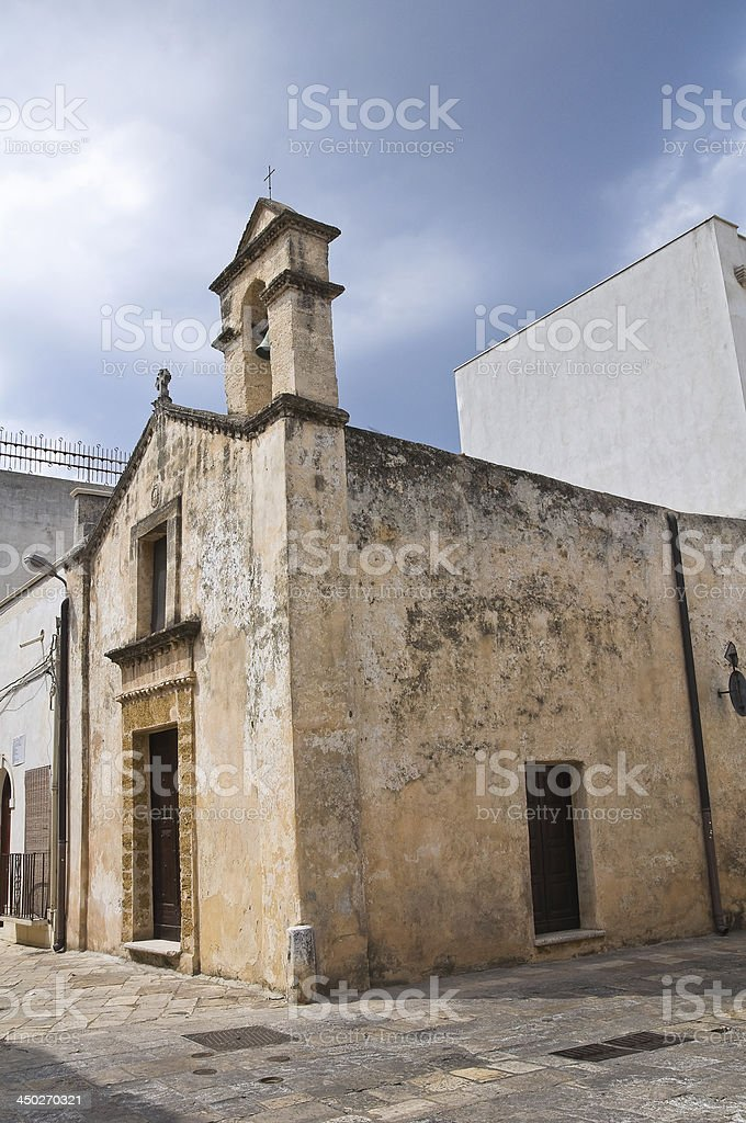 Church of Madonna d' Andria. Mesagne. Puglia. Italy. royalty-free stock photo