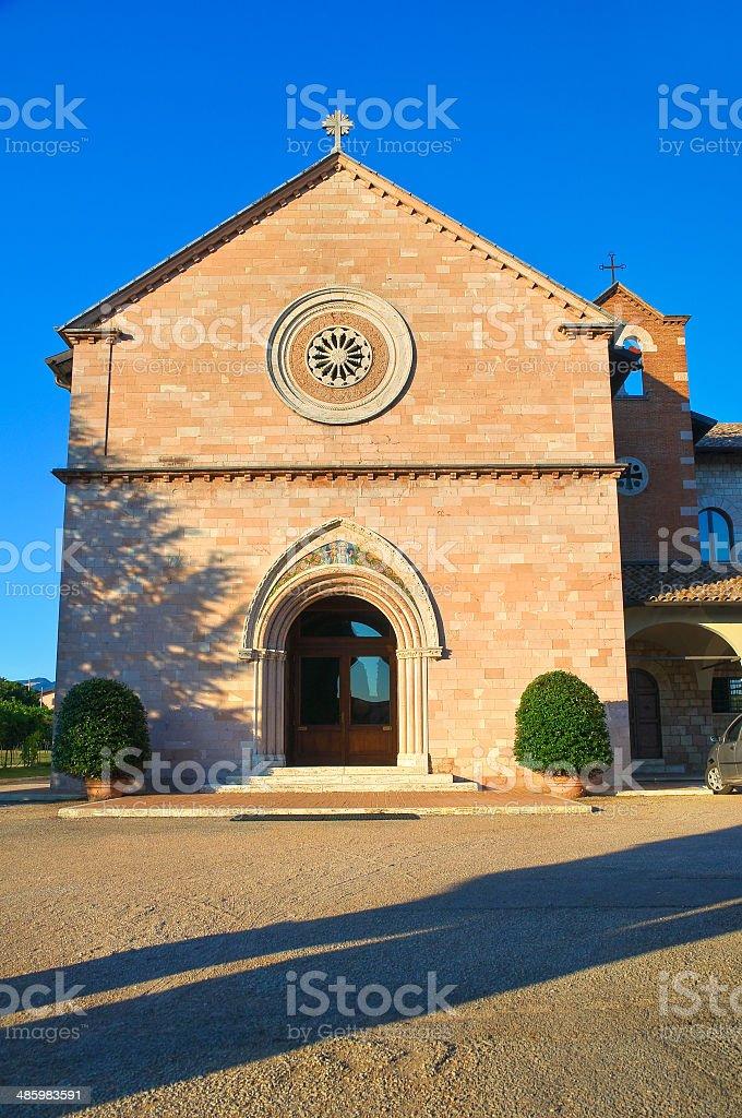 Church of Madonna delle Rose. Santa Maria degli Angeli. Umbria. stock photo