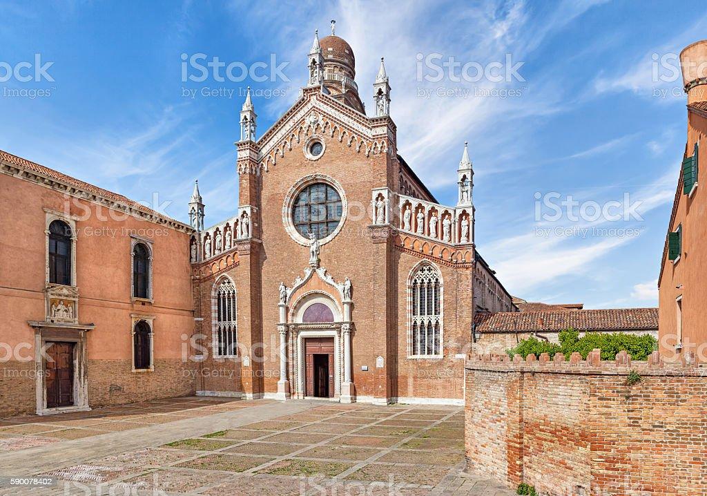 Church of Madonna dell'Orto in Venice stock photo
