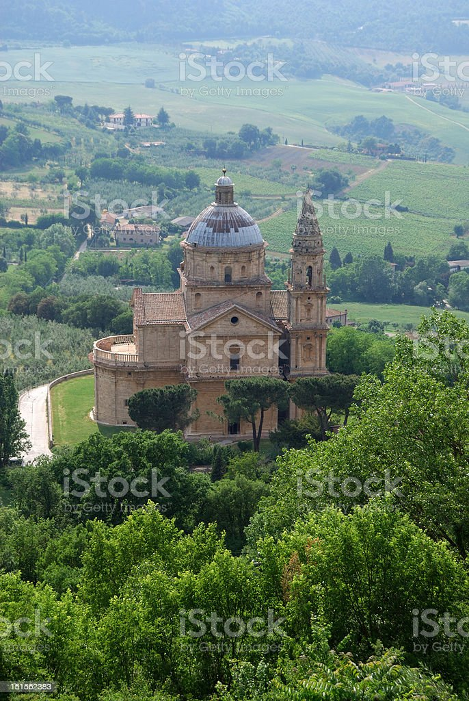 Church of Madonna di San Biagio, Montepulciano stock photo