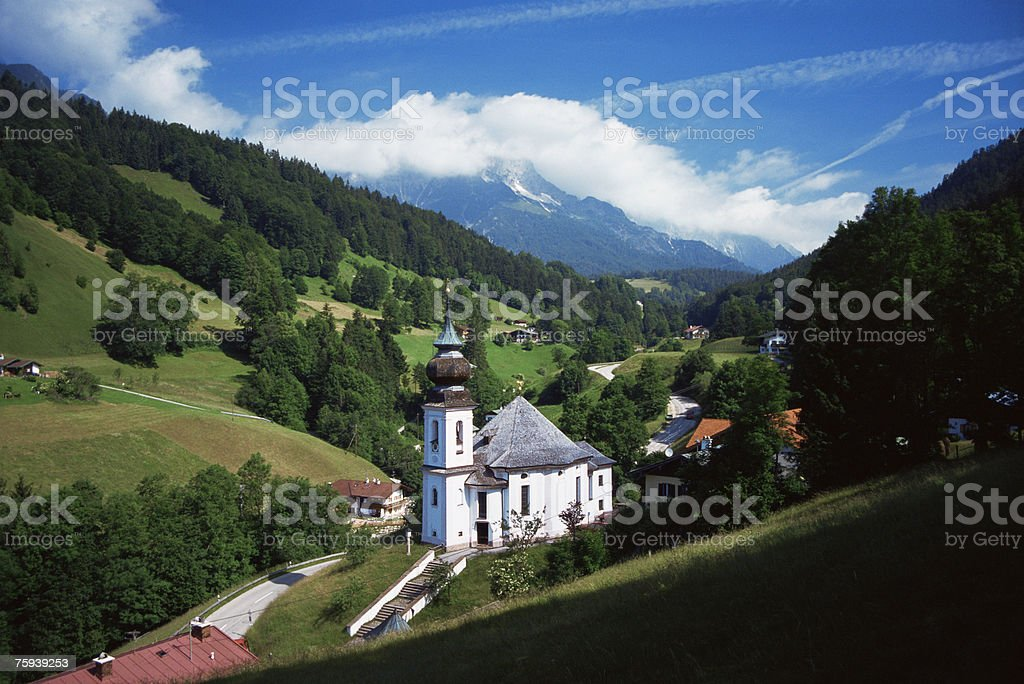 Church of maria gern royalty-free stock photo
