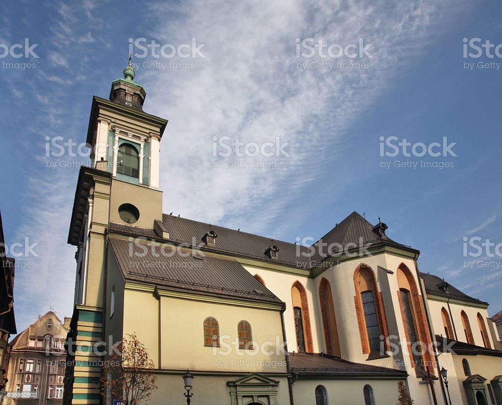 Church of Mary Magdalene in Cieszyn. Poland stock photo