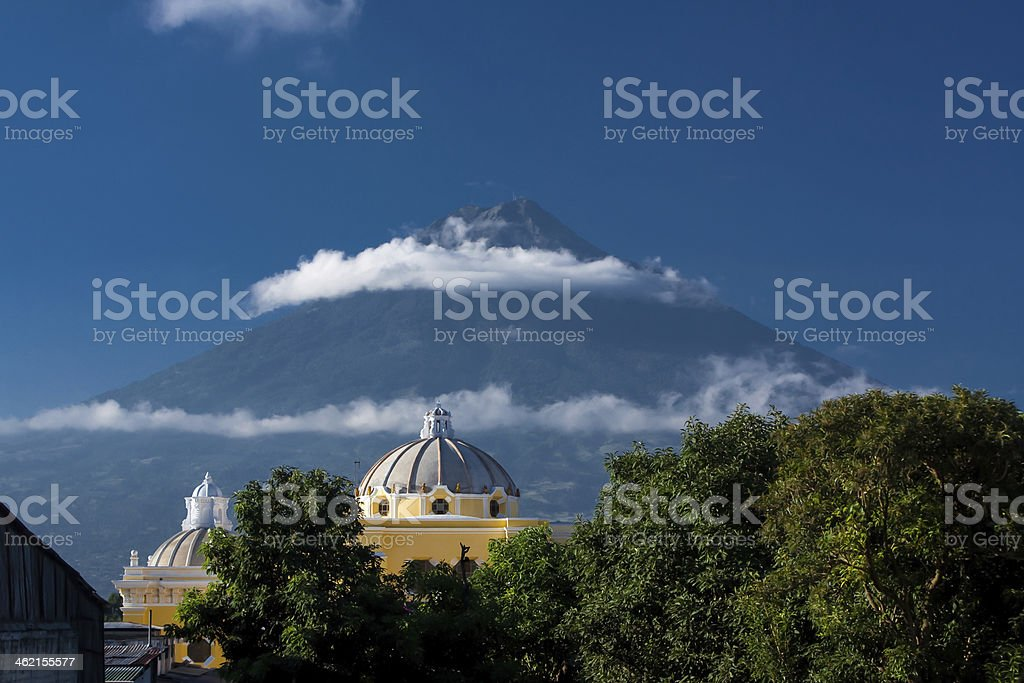 Iglesia de la Merced Antigua Guatemala stock photo