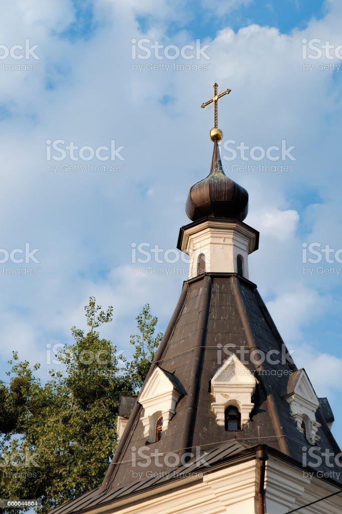 Church of Mykola Dobry in Kyiv, Ukraine stock photo