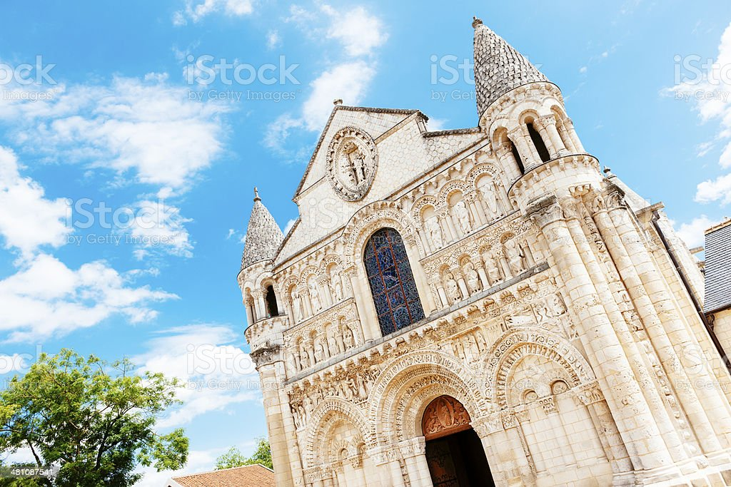 Eglise Notre-Dame la Grande, Poitiers, France stock photo