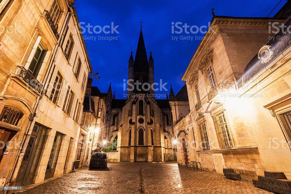 Church of Notre-Dame of Dijon stock photo