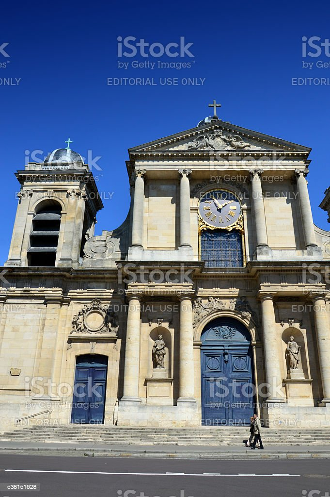 Church of Notre-Dame, Versailles, France stock photo