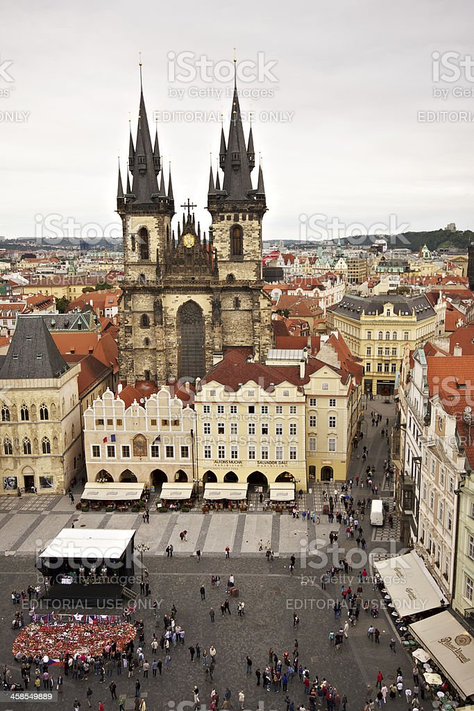 Church of Our Lady before Týn. Prague. stock photo
