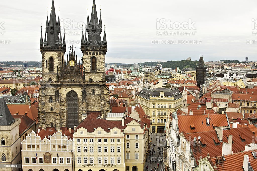 Church of Our Lady before T?n. Prague. royalty-free stock photo
