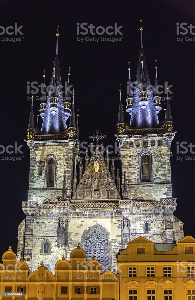 Church of Our Lady before Tyn in Prague, Czech Republic royalty-free stock photo