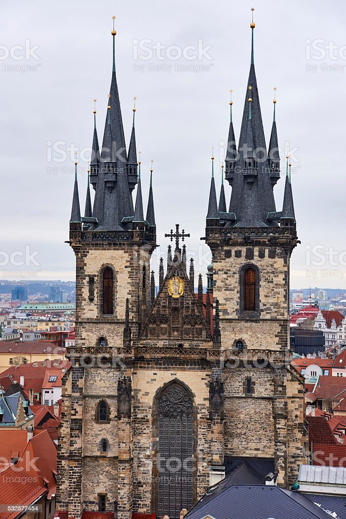 Church of Our Lady before Tyn stock photo
