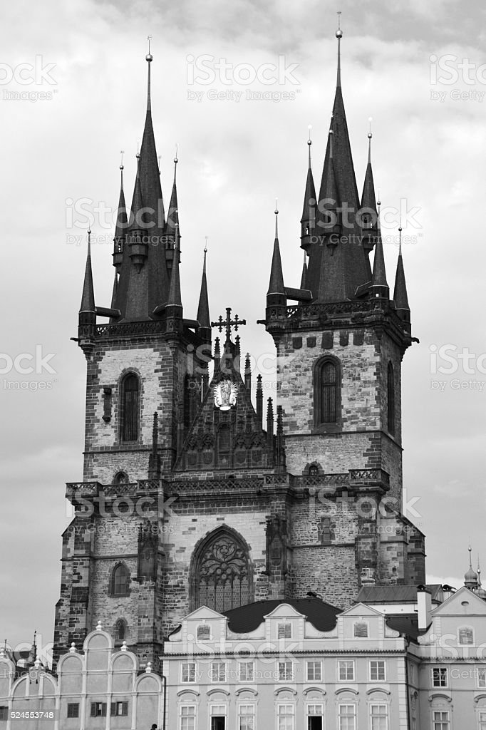 Church of our Lady before Tyn, Prague, Czech Republic stock photo