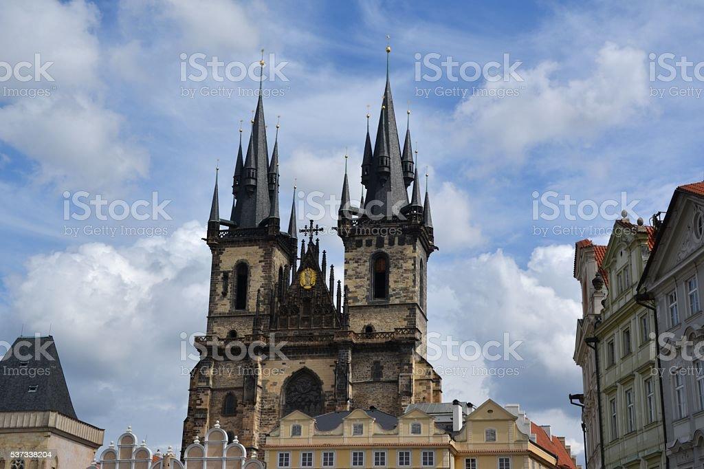 Church of our Lady before Tyn, Prague, Czech Republic stock photo