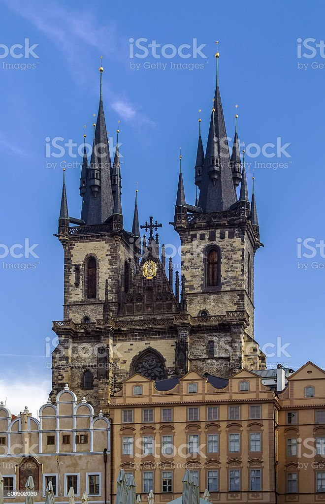 Church of Our Lady before Tyn, Prague stock photo