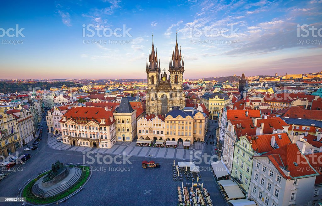 Church of our Lady before tyn Prague stock photo