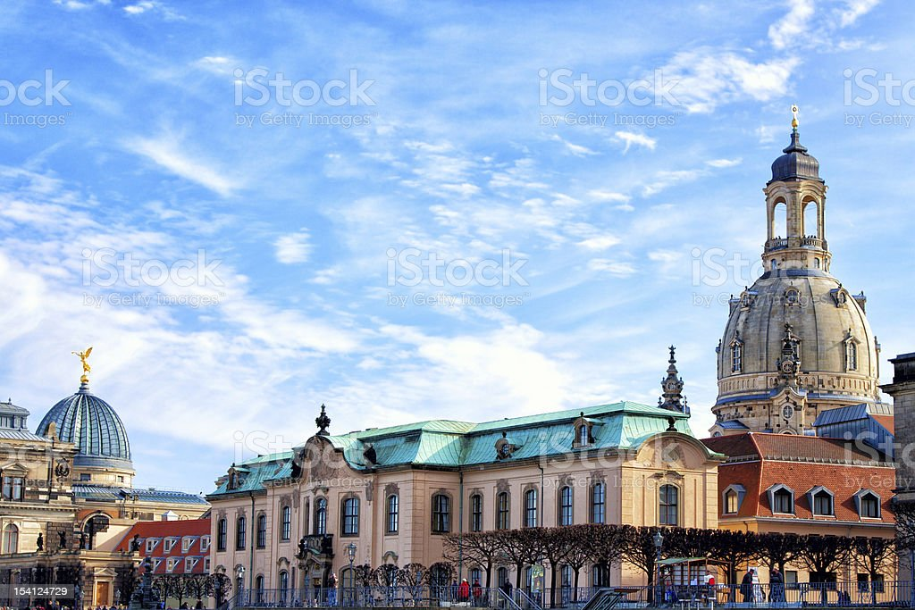 Church of Our Lady, Dresden, Germany stock photo