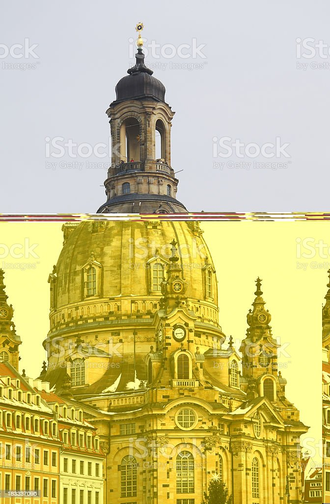 Church of Our Lady, Frauenkirche Dresden stock photo