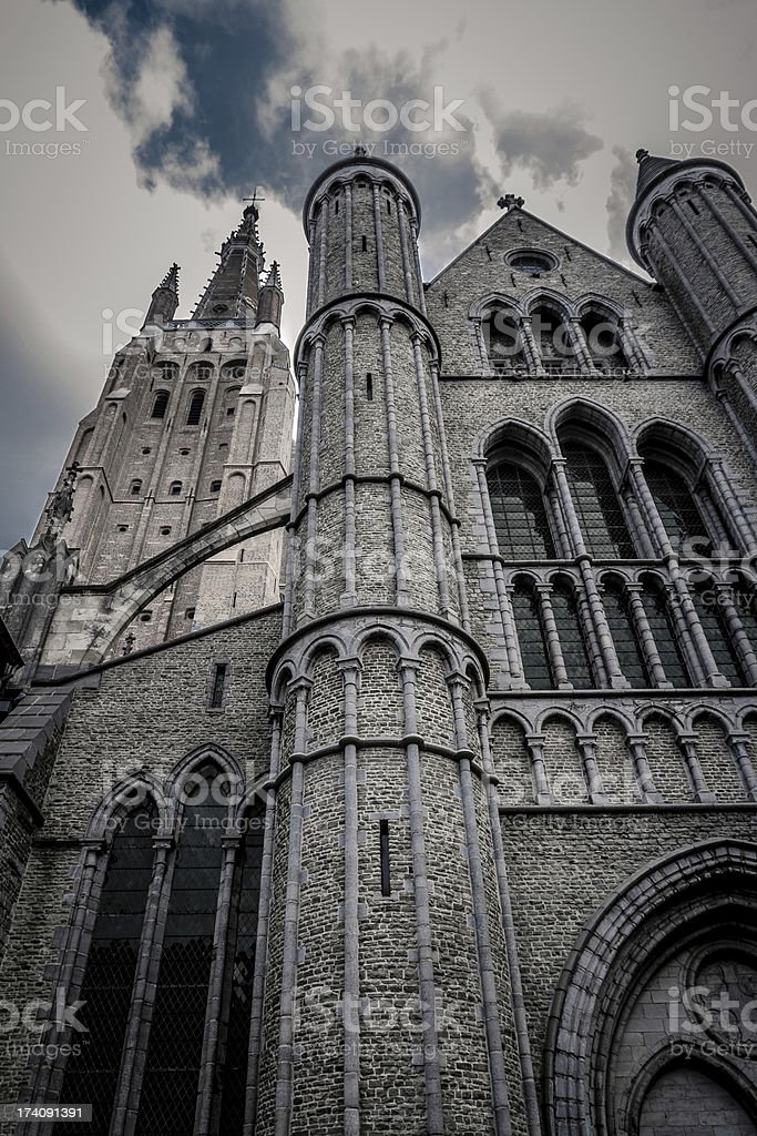 Church of our Lady in Bruges royalty-free stock photo