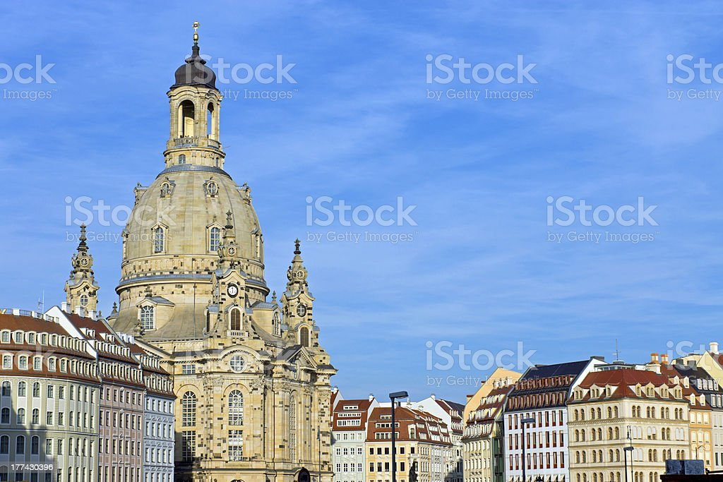 Church of Our Lady in Dresden royalty-free stock photo