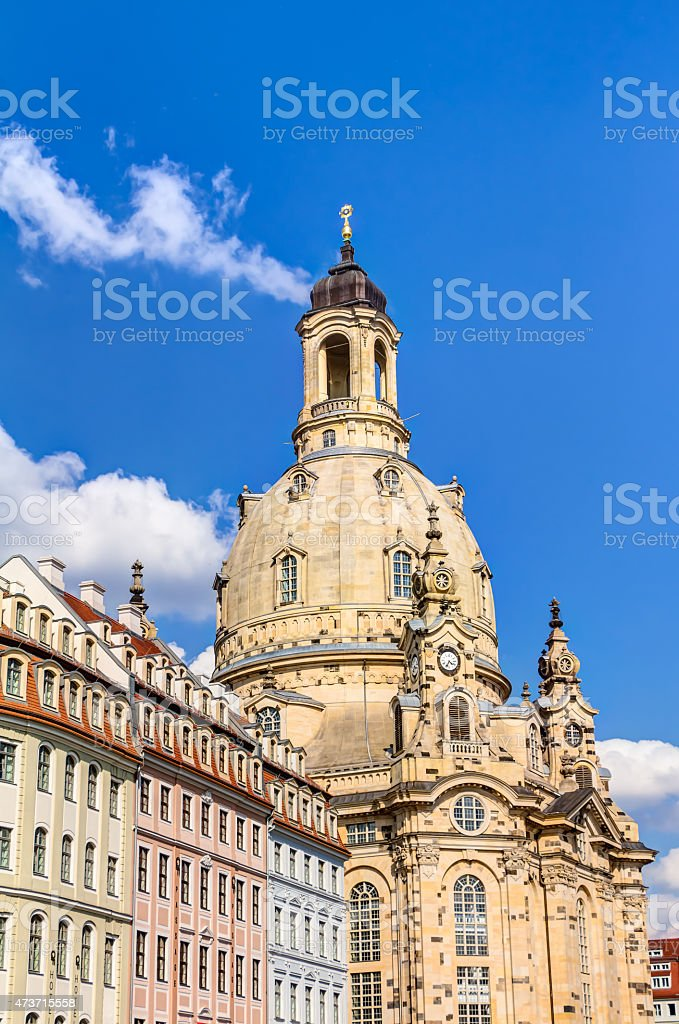 Church of our Lady (Frauenkirche) in Dresden stock photo