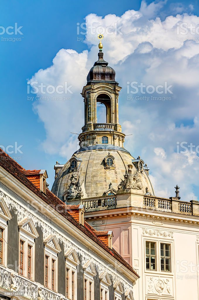 Church of our Lady in Dresden stock photo