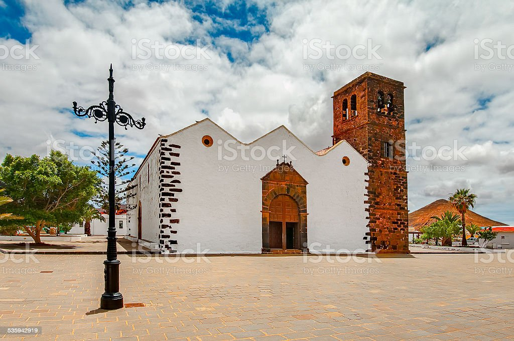 Church of Our Lady of Candelaria, Fuerteventura stock photo